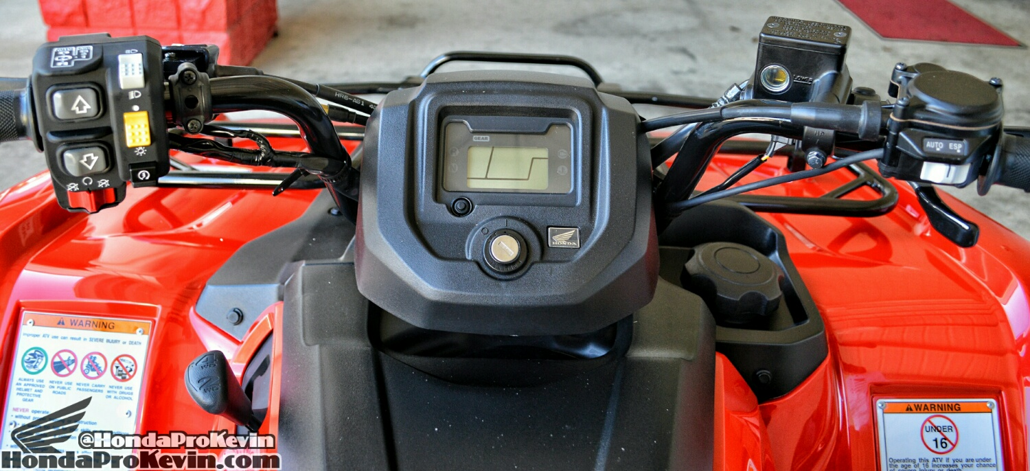 2019 Honda Rancher 420 Gauges / Display - Review / ATV Specs - Four Wheeler 4x4 Quad TRX420