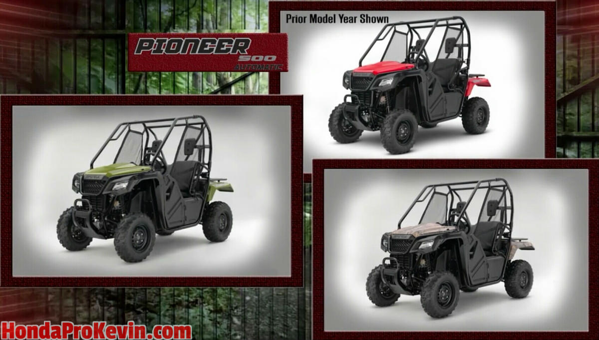 2017 Honda Pioneer 500 Review of Specs - Side by Side ATV / UTV / SxS / Utility Vehicle