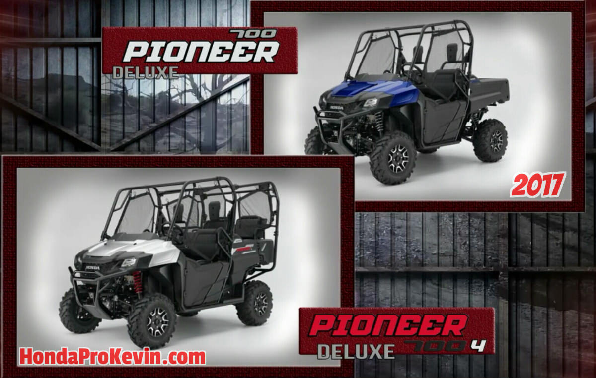New 2017 Honda Pioneer 700 - 4 Review of Specs / Changes - Side by Side ATV / UTV / SxS
