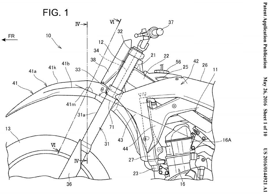 New 2017  2018    Honda    CRF450R  CRF250R Patents Filed