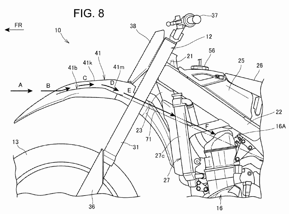 new 2017   crf250r patents filed