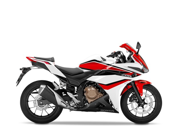 2018 CBR500R Pearl Metalloid White, Red Stripe