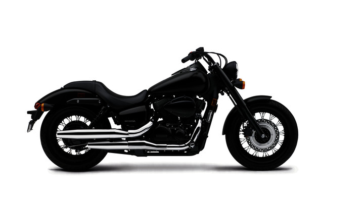 Blackef Out Honda Shadow Motorcycle