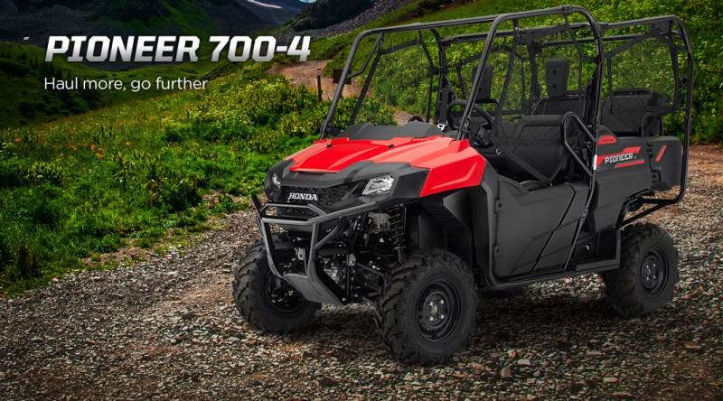 2018 Honda Pioneer 700-4 Review & Specs - 4-Seater Side by Side ATV / UTV / SxS Utility Vehicle - SXS700 / SXS700M4
