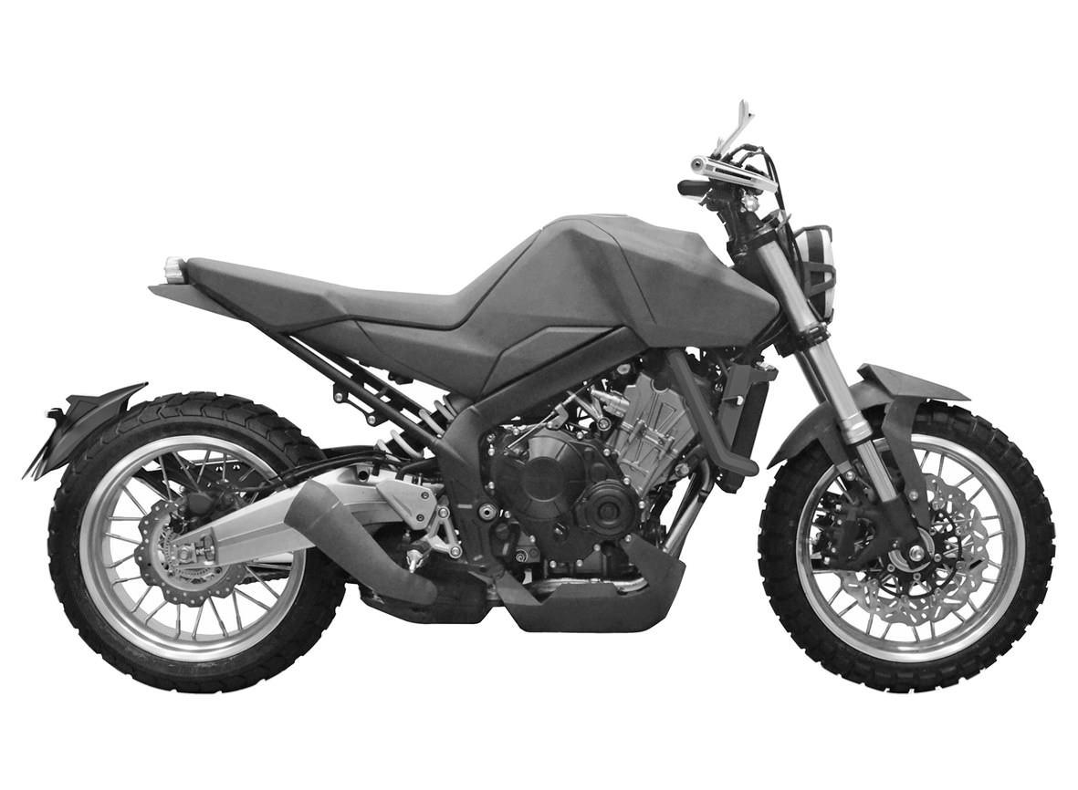2017 Honda CBsix50 Concept Motorcycle / Naked Scrambler StreetFighter Sport Bike - CBR 650 F / CBR650F