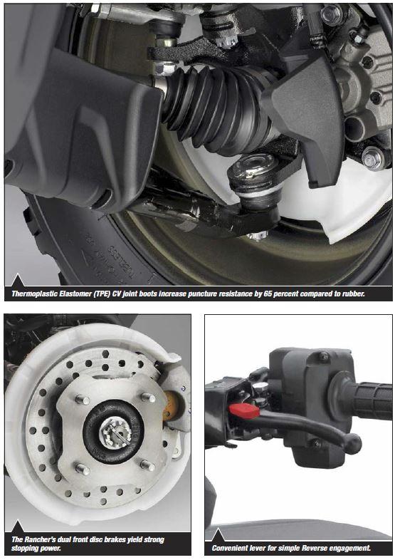 2018 Honda Rancher 420 ATV Review / Specs - TRX420 FourTrax 4x4