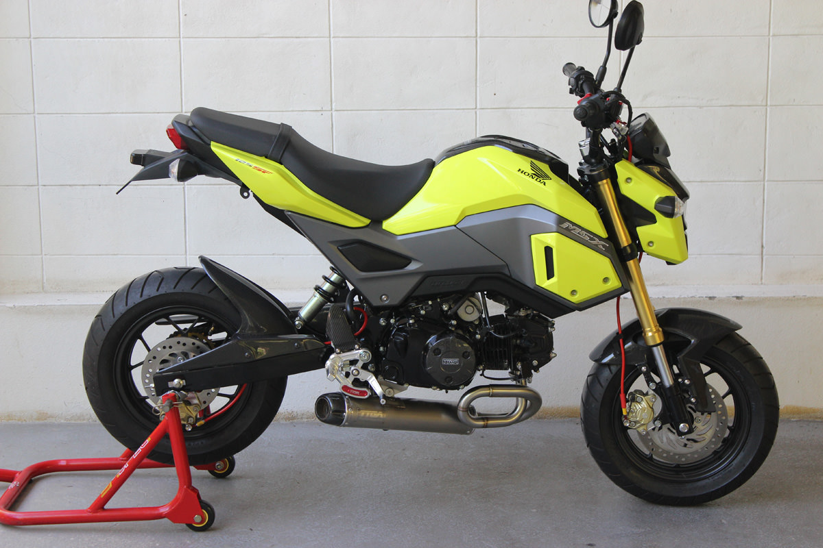 2017 Honda Grom Exhaust   Tyga UnderBelly (Long)