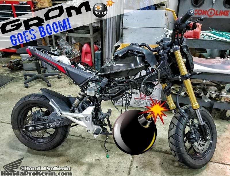 Honda Grom MSX 125 Engine Blown / Problems - Damage - 125cc Motorcycle / Mini Bike / MSX125 / Grom125