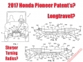 2017 / 2018 Honda Pioneer 1000, 700, 500 Side by Side Changes - UTV / SxS / Utility Vehicle Patent Documents / Images