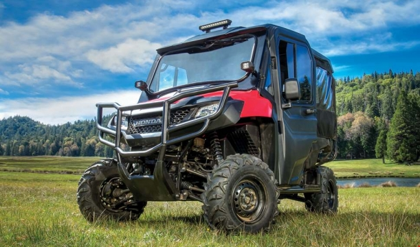 Honda Pioneer 700-4 Accessories Review - Bumpers LED Lights Windshield Doors & 2014 Honda Pioneer 700-4 Accessories Review | Prices u0026 Detailed ...