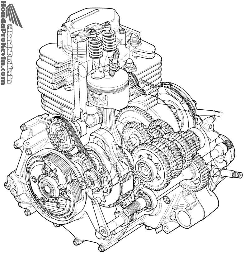 honda atv engine diagram
