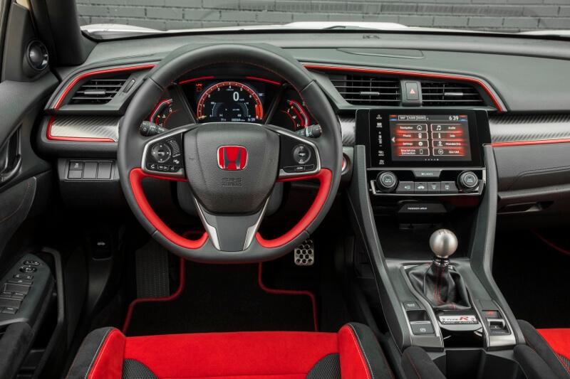 2017 2018 Honda Civic Type R Interior Inside Cabin Pictures Fk8 Hatchback Ctr