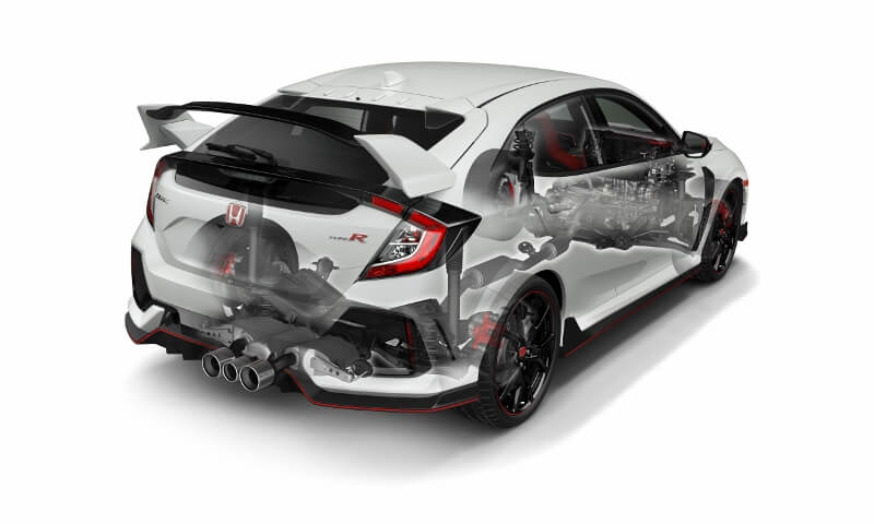 2017-2018 Honda Civic Type R Turbo Detailed Engine, Suspension, Frame Review of Specs / Development / R&D - Hatchback CTR FK8