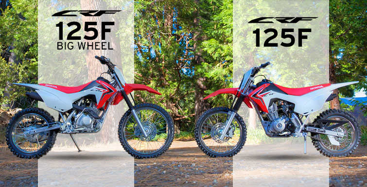 2018 Honda CRF125F VS CRF125F Big Wheels Review of Specs & Differences - Dirt / Trail Bike - Off Road Motorcycle