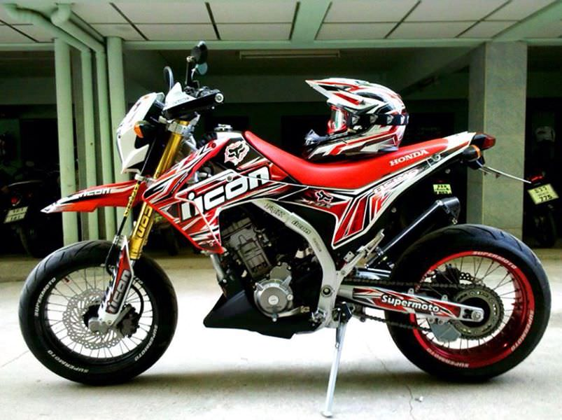 Custom Honda Crf M Motard Crf L Supermoto Bike on Crf450r Wiring Diagram
