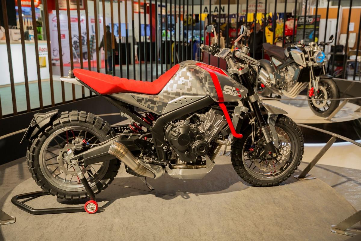 honda cbsix concept scrambler dual sport motorcycle    eicma  honda pro