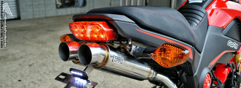 Honda Grom / MSX Dual Exhaust Review - WirusWin Twin Full ...