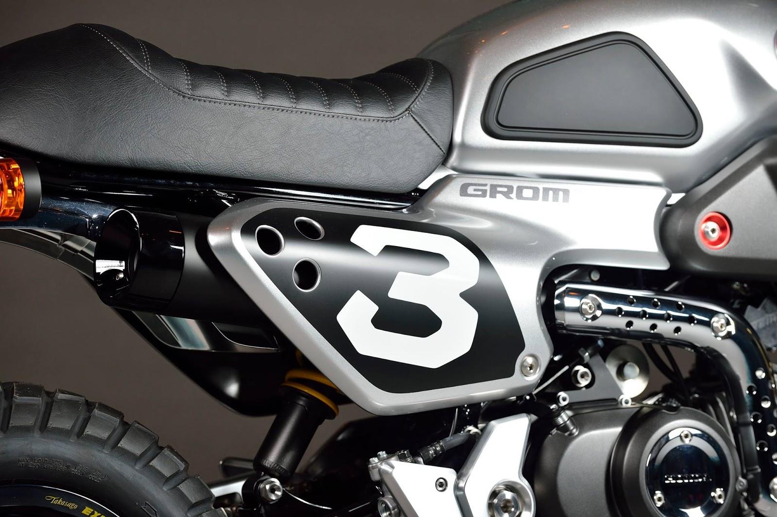 Honda Grom Build >> Custom 2016 Honda Grom Scrambler Concept One & Two ...