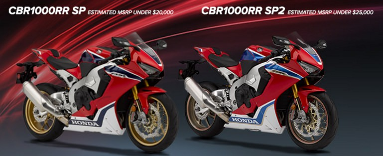 2017 Honda CBR1000RR SP / SP2 Price - Spec Differences - CBR 1000 RR SuperSport Sport Bike / Motorcycle