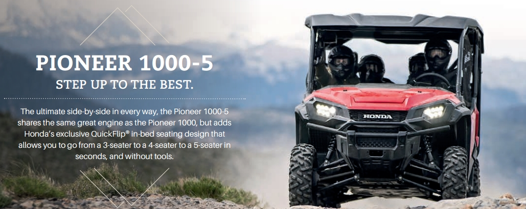 2018 Honda Pioneer 1000 5 Deluxe Review 1000cc Side By Atv Utv