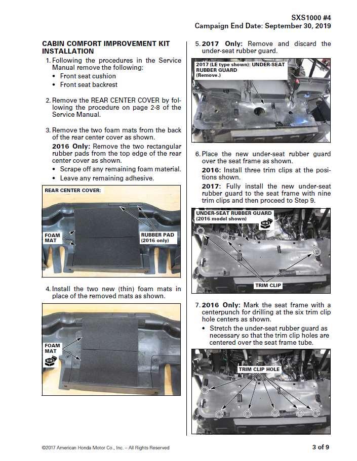 2016 2017 honda pioneer 1000 cabin comfort improvement kit heat rh hondaprokevin com 2014 honda pioneer 700 service manual 2014 Honda Pioneer 500