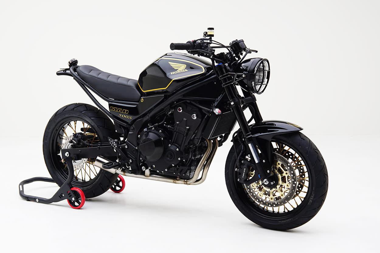 custom honda cb500 's' scrambler motorcycle + cbr parts = this