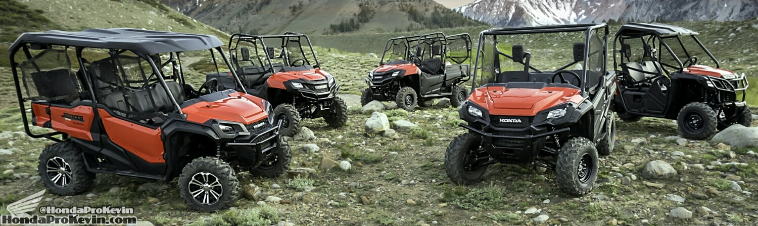 2017 Honda Pioneer Side by Side / UTV / ATV Lineup Review / Specs - HP Performance / Price / SxS 4x4 Utility Vehicle