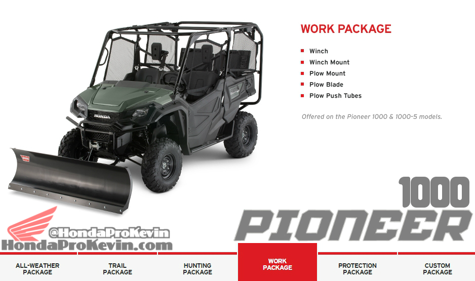 Custom 2016 Honda Pioneer 1000 Side by Side / UTV / SxS Accessories Work Package