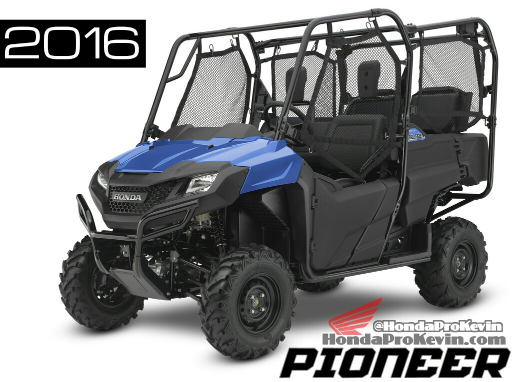 Blue 2016 Honda Pioneer 700-4 Review - Specs - Side by Side / UTV / SxS / ATV - SXS700 M4