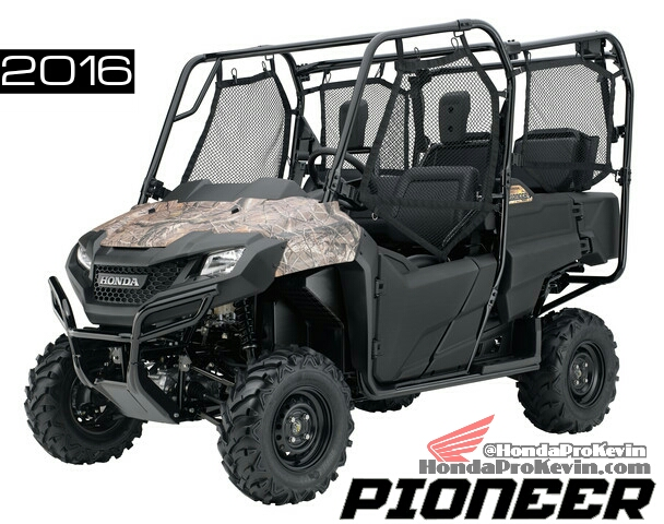 Camo 2016 Honda Pioneer 700-4 Review - Specs - Side by Side / UTV / SxS / ATV - SXS700 M4