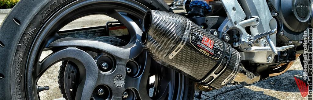 Honda CB1000R Yoshimura R-77 Exhaust Carbon Fiber CBR1000RR Naked Sport Bike CBR 1000RR 1000 cc