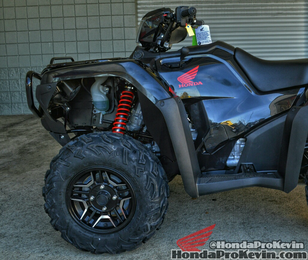 2016 honda fourtrax foreman rubicon 500 deluxe black 4x4 atv custom