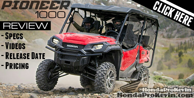 2016 Honda Pioneer 1000 Review / Specs / Prices / Release Date - Side by Side / UTV / SxS 1000 cc