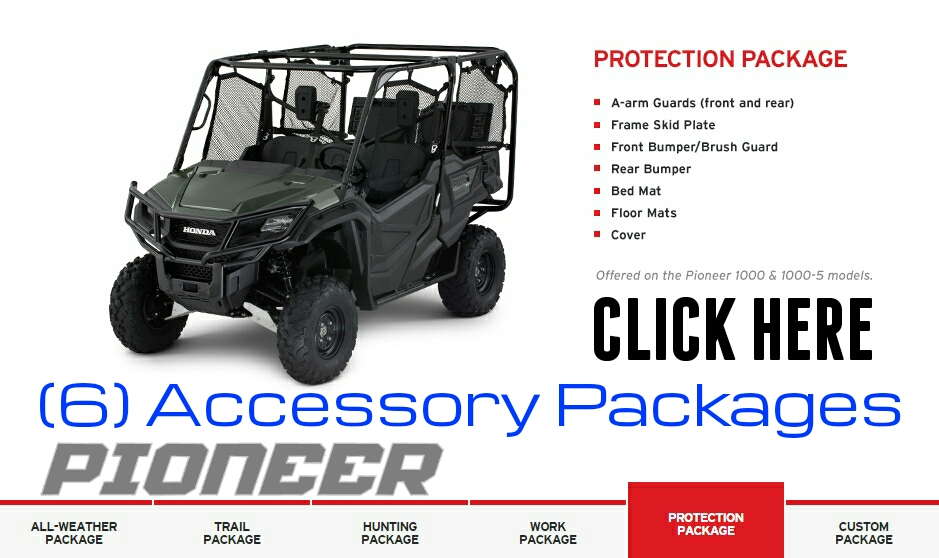 Custom 2016 Honda Pioneer 1000 Accessories Packages