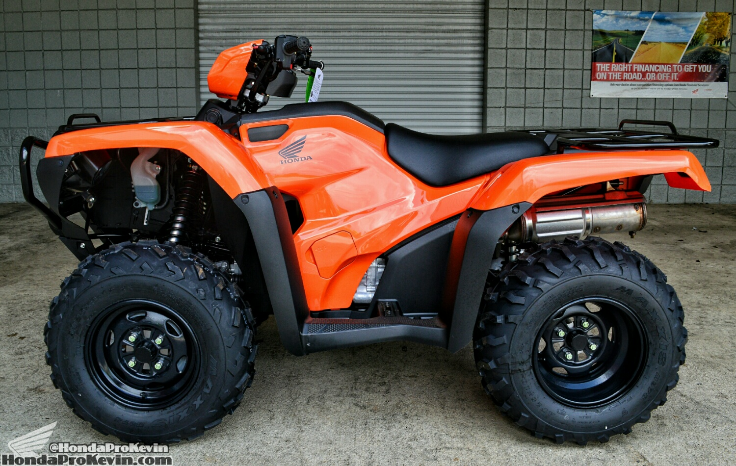 Orange 2016 Honda FourTrax Foreman 500 / TRX500