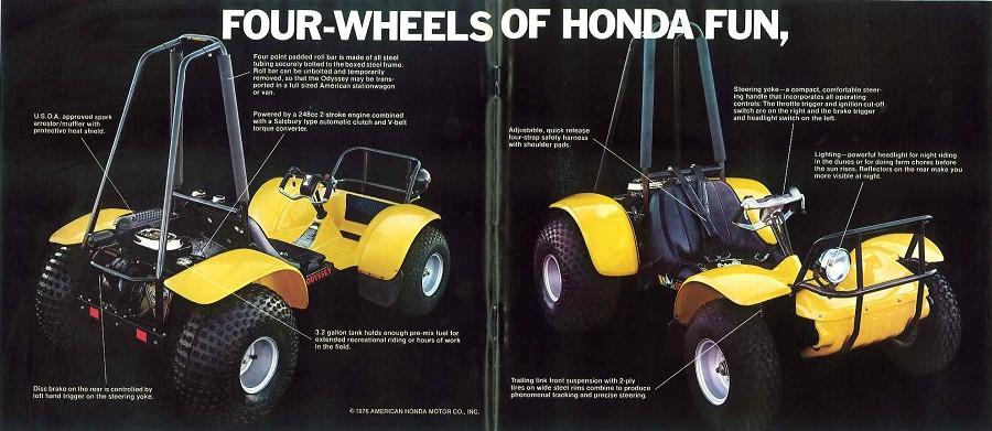 2017 Honda Sport 1000 SxS / UTV / Side by Side ATV - 1978 Honda FL250 Odyssey