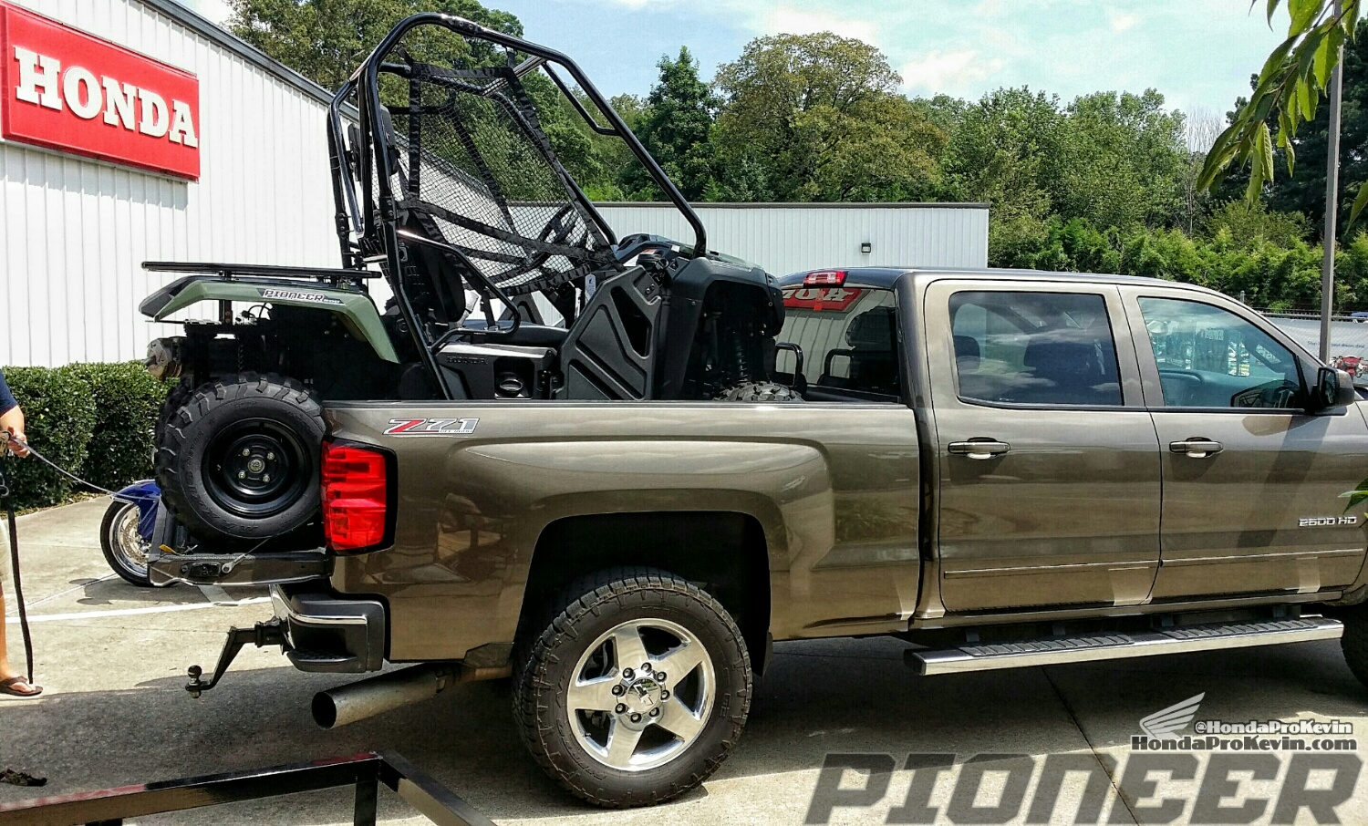 Honda Pioneer 500 SxS / UTV / Side by Side ATV in Pickup Truck Bed