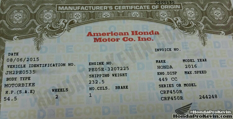2016 Honda Crf450r Vs 2015 Crf450r Hp Comparison Dirt
