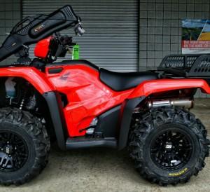 "Custom 2018 Foreman 500 26"" ITP Tires & Black Ops SS316 Wheels - Moose Rear Rack - Kolpin Gun Boot - Warn Winch - A-Arm Guards"