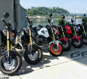 Custom Honda Grom 125 / MSX125 Pictures - Chattanooga TN Coolidge Park & Market St Bridge / TN River