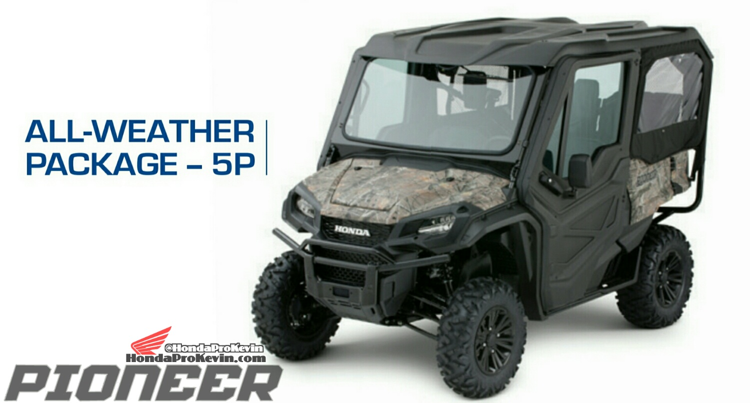 Honda Pioneer 1000-5 All Weather Package - Accessories - Parts - SxS / UTV / Side by Side ATV