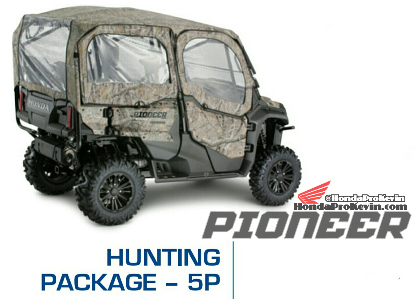 2018 Honda Pioneer 1000-5 Hunting Package - Accessories - Parts - SxS / UTV / Side by Side ATV