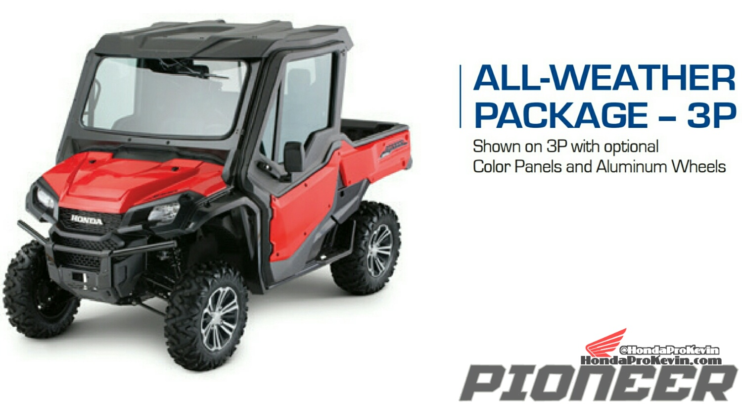 Honda Pioneer 1000 All Weather Package - Accessories - Parts - SxS / UTV / Side by Side ATV