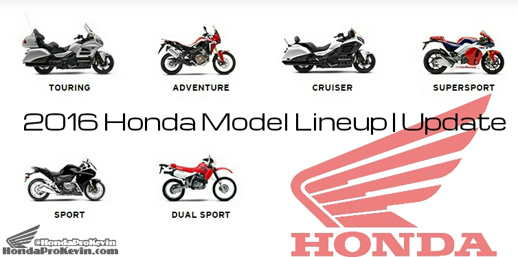 2016 Honda Motorcycle Model Lineup Announcement Review News