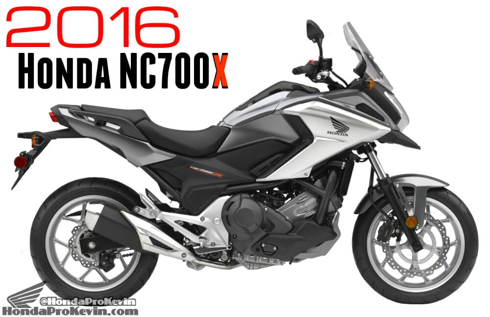 Honda Releases New 2016 CB500X & NC700X Motorcycle Info