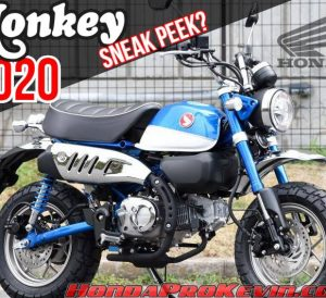 2020 Honda Monkey 125 Sneak Peek Motorcycle Announcement / Release | 125cc Mini Bikes / Motorcycles: Grom, Monkey and Super Cub