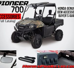 2019 - 2014 Honda Pioneer 700 Accessories at Discount Prices | OEM Parts | Side by Side / SxS / UTV / Utility Vehicle - SXS700