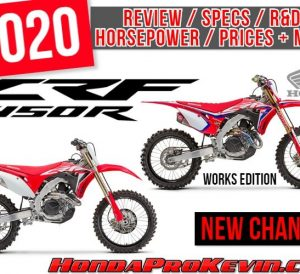 2020 Honda CRF450R Review / Specs + NEW Changes Explained | CRF450RWE Works Edition | Price, Horsepower, Performance Info, Weight + More!