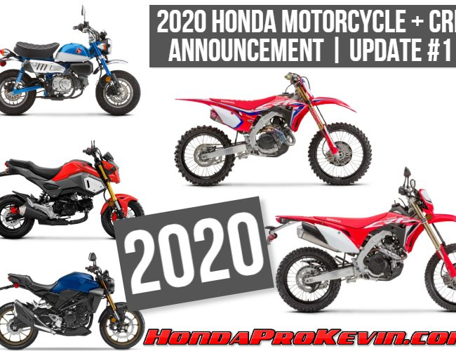 NEW 2020 Honda Motorcycles: Reviews, Specs, Buyer's Guides + More!