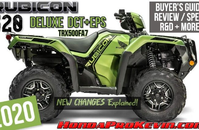 2020 Honda Rubicon 520 Deluxe DCT + EPS ATV Review / Specs | TRX520FA7 Price, HP, TQ, Changes, Suspension Travel, Colors + More!